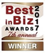 Best in Biz Awards 2017 bronze winner logo