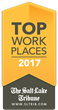 Logo from the 2017 Salt Lake Tribune Top Workplaces