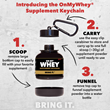 OnMyWhey® Launches Patented Supplement Keychain™ Bottle for On-The-Go Nutrition