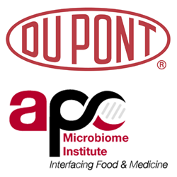 DuPont and APC Microbiome Institute Logos