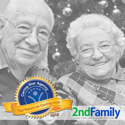 In ratings and reviews from family caregivers and cognitively healthy older adults, 2nd Family earned a 5-star consumer rating (the highest possible score) within the last year, while also having a high volume of positive reviews and meeting other qualifying criteria for this national honor.