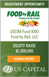 US Capital Advises on $5MM Equity Raise for Food by Rail