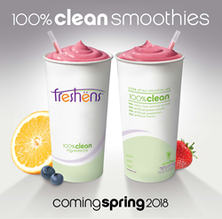 Freshens Fresh Food Studio 100% Clean Smoothies 100 Percent Clean Ingredients