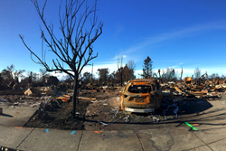 A view of the devastation in the wake of the October firestorm.