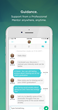 Users and mentors interact in an easy to use chat platform