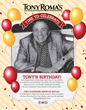 Tony Roma's® Celebrates its Iconic Founder with a Sweet Deal for Fans
