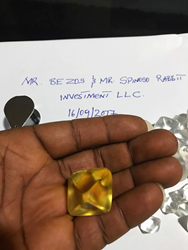 Rabbit Investment showing Yellow Diamond to Jeff Bezos of Amazon