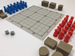 Elements and setup of the board game OFMOS (for play in Normal Mode)