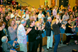 Audience enjoying the performance with a standing ovation