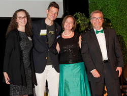 SOL VISTA's Janine Holloway and Shannon Sentman are honored on stage at the Bethesda Green 2017 Gala