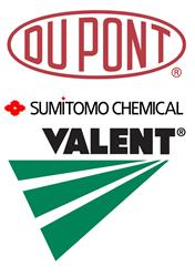 DuPont, Sumitomo and Valent Logos