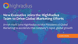 New Executive Joins the HighRadius Team to Drive Global Marketing Efforts