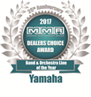 Yamaha Band & Orchestral Line Recognized with 2017 MMR Dealers' Choice Award