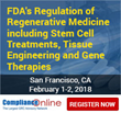 ComplianceOnline Announces Seminar on FDA Regulation of Regenerative Medicine (Stem Cell Treatments, Tissue Engineering and Gene Therapies)