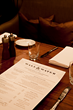 Menu, Wall Street, Food and Beverage, F&B, Andaz, Design, Brand