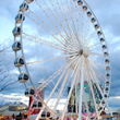 SkyWheel Newport will be approximately 235 feet above the Ohio River, or roughly 20 stories high, with 30 gondolas that hold six passengers each.