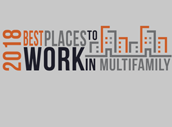 Graphic that says 2018 Best Places to Work in Multifamily