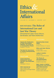 Ethics & International Affairs, Volume 31.4 (Winter 2017)