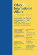 "Carnegie Council Presents the Winter Issue of its Journal, ""Ethics & International Affairs,"" Including Roundtable on the Roles of International War and Just War Theory"