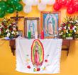 <California Flower Mall Virgin of Guadalupe Flowers>