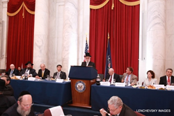 Louis Kestenbaum speaking at the U.S. Commission for the Preservation of America's Heritage Abroad