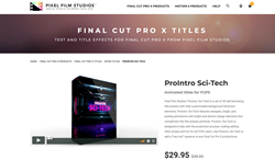 ProIntro Sci-Tech - Pixel Film Effects - FCPX