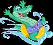 """Big Al"" is our friendly alligator mascot!"
