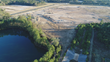 Aerial view of construction for Gator Bayou