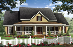 Image of country home house plan from VR video