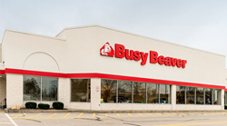 The new Grove City, PA Busy Beaver store opening in early 2018 will be similar to the Ashtabula, Ohio Busy Beaver store pictured here.
