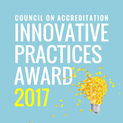 Innovative practices award 2017 presented by the Council on Accreditation (COA)