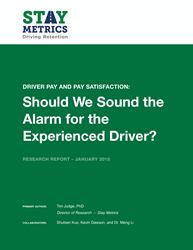 Stay Metrics Research Report on Driver Pay and Driver Satisfaction