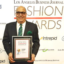 """Ram Sareen, recipient of the LABJ Fashion Award for """"Technology Innovation"""""""