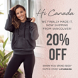 Lorna Jane Canada New Digital Flagship Store Offer
