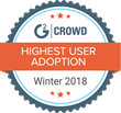 UserIQ Named #1 in User Adoption in G2 Crowd's Winter 2018 Implementation Index for Customer Success