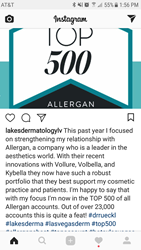 Lakes Dermatology, Winner of Top 500 Allergan