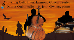 Misha Quint, cello, John Owings, piano, InterHarmony Concert Series in Fort Worth