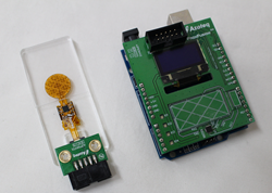 IQS266 miniature touchpad and arduino uno