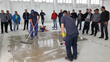 Hands-on Training: PENETRON experts show clients and students show how to correctly apply PENESEAL FH floor sealer at the PENETRON Hellas Training Center in Athens, Greece.