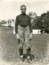 "Charles ""Pruner"" West, Class of 1924, was the first black quarterback to play in the Rose Bowl Game. Washington & Jefferson College played in the Rose Bowl on Jan. 2, 1922."