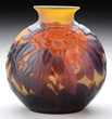 Galle Mold Blown Rhododendron Vase, Realized $18,150.
