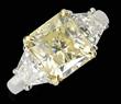 Platinum, Yellow Diamond & Diamond Ring, Realized $20,570.