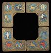 Tiffany Studios Polychromed Zodiac Blotter Corners, Realized $9,075.