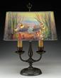 Handel Reverse Painted Aquarium Lamp, Realized $60,500.