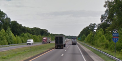 Subsurface pavement structure evaluation on 8 miles of Interstate 85 in South Carolina