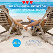 Cottage Rental Agency, Seaside, FL Vacation Rental Company Partners with 30A for Romantic 3-Night Giveaway