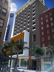 Downtown Hotel Exterior Rendering