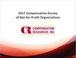 Compensation Resources, Inc. Releases Its 2017 Compensation Survey of Not-For-Profit Organizations