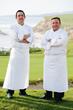 Chef de Cuisine Jason Pringle of Navio and Executive Chef Xavier Salomon of The Ritz-Carlton, Half Moon Bay