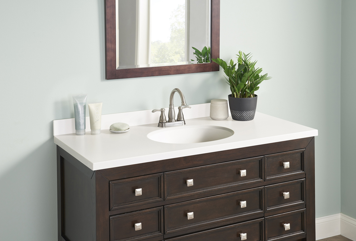 Corian Vanity Countertops : New fabricated vanity tops made with dupont™ corian